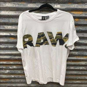 G star raw logo camo tee